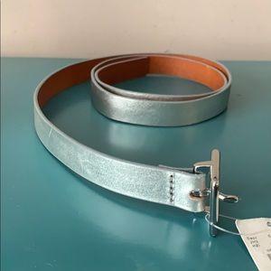 J.CREW Silver belt